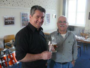 Bürgermeister Miroslaw Kowalski und der Vorsitzende der SF Birkenfeld, Kurt Geibel