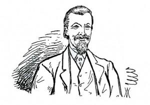 J. H. Blackburne - Karikatur aus dem 19. Jahrhundert
