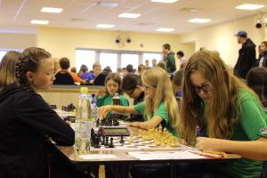 Mitteldeutsche Meisterschaft Mädchen U14. Konz (links im Bild) im Wettkampf gegen Riegelsberg