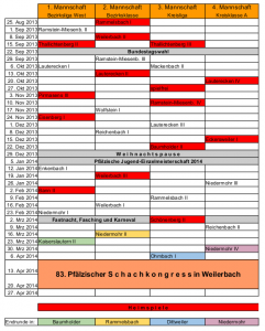 Spielplan 2013-2014