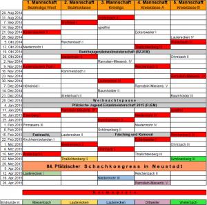 Spielplan 2014 / 2015