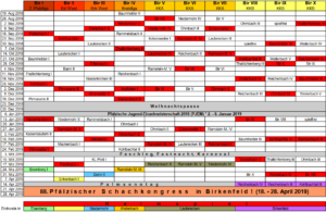 Spielplan 2018-2019