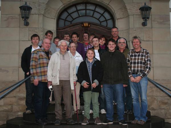 Vereinsmeisterschaft 2012 - Gruppenbild Treppe